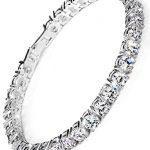 Neoglory Jewellery Silber Zirkonia Tennisarmband Damen weiß luxus elegant