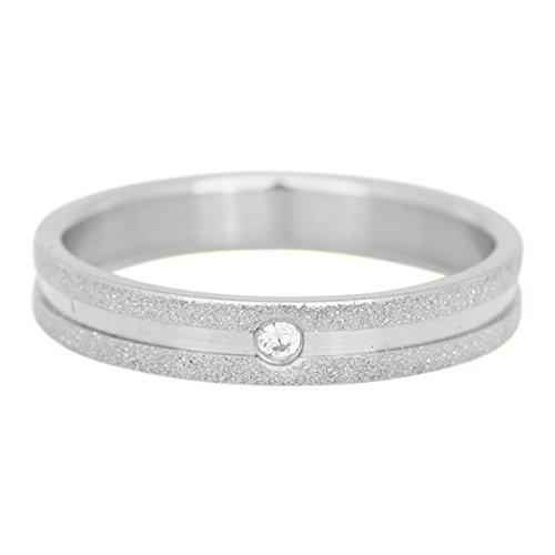 iXXXi Füllring SANDGESTRAHLT ZIRKONIA silber weiß - 4 mm Größe Ringgröße 18